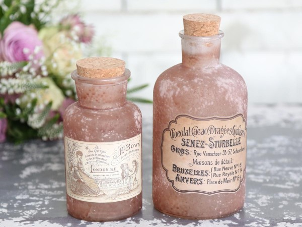 Flasche old french altrose groß