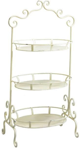 Regal Etagere shabby chic creme